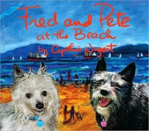 Fred and Pete at the Beach by Cynthia Nugent