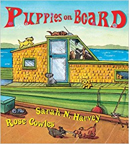 Puppies on Board by Sarah N. Harvey